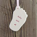 Baby girl foot by broadlands pottery
