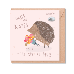 Hogs & kisses mum card by lucy & lolly