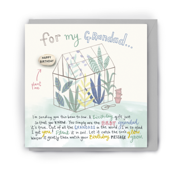 For my grandad bean card by lucy & lolly
