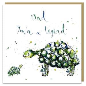 Dad legend tortoise by louise mulgrew