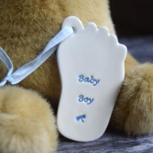 Baby boy foot by broadlands pottery