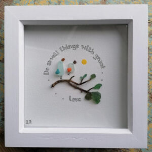 Small things art frame by serendipity sea crafts