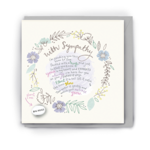 With sympathy bean card by lucy & lolly