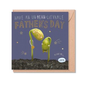 Fathers day bean card by lucy & Lolly