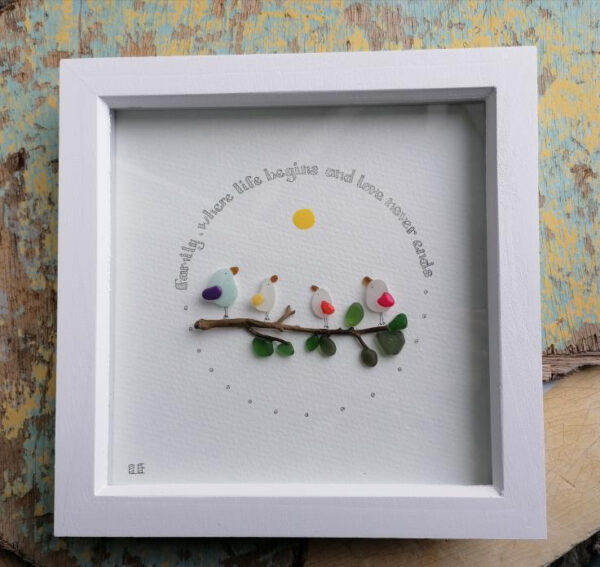 Family art frame by Serendipity sea crafts