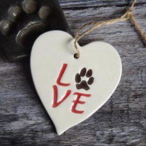 Dog paw by broadlands pottery