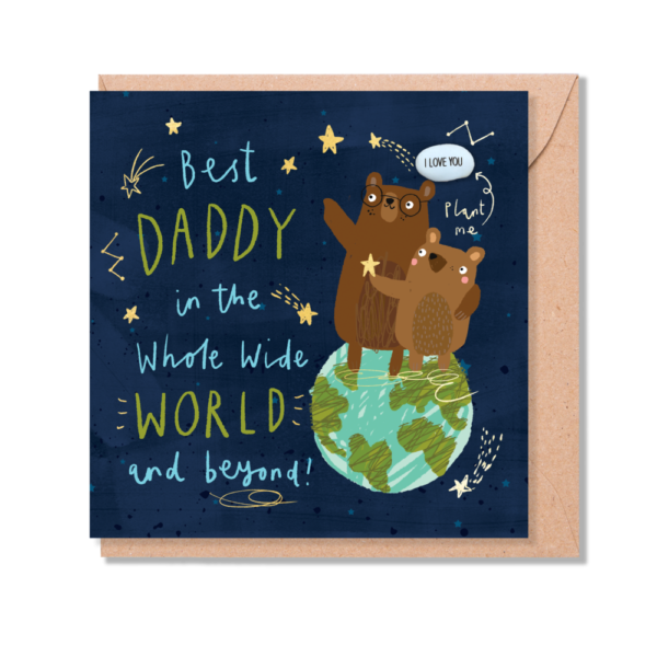 Best daddy in the world card by lucy and lolly