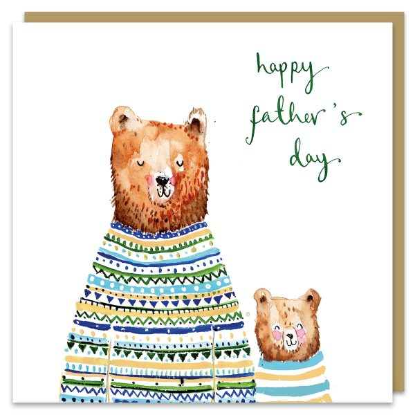 Bears fathers day card by louise mulgrew