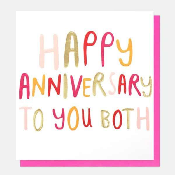 Anniversary to you both by caroline gardner