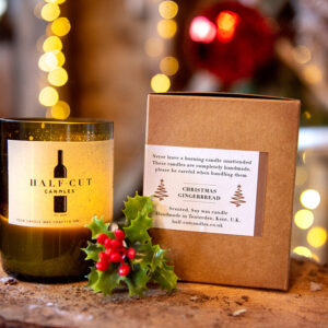 Christmas gingerbread soy candle by half cut candles