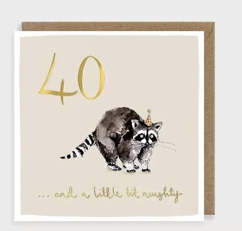 40 racoon card by louise mulgrew