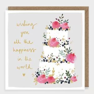 Happiness in the world cake card by louise mulgrew