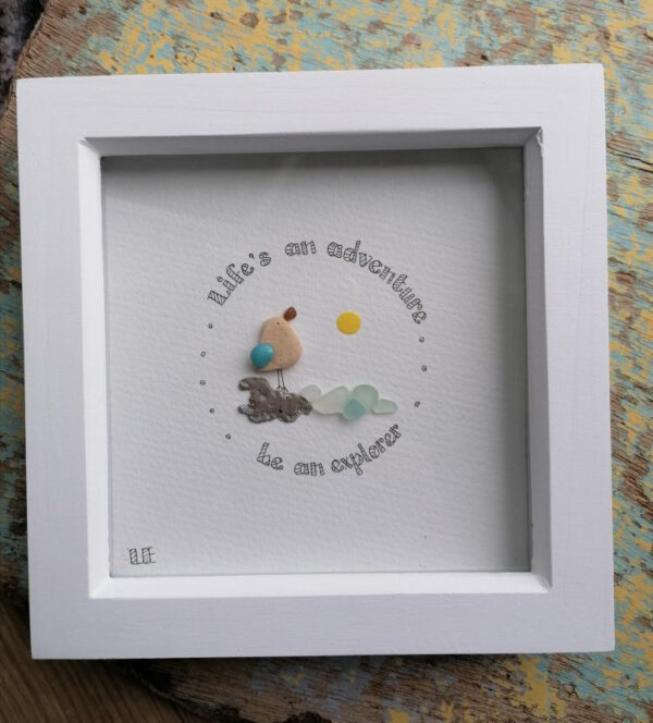 Lifes an adventure art frame by serendipity sea crafts