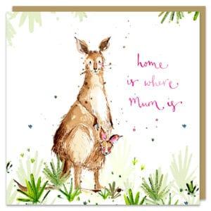 Home is where mum is kangaroos by louise mulgrew