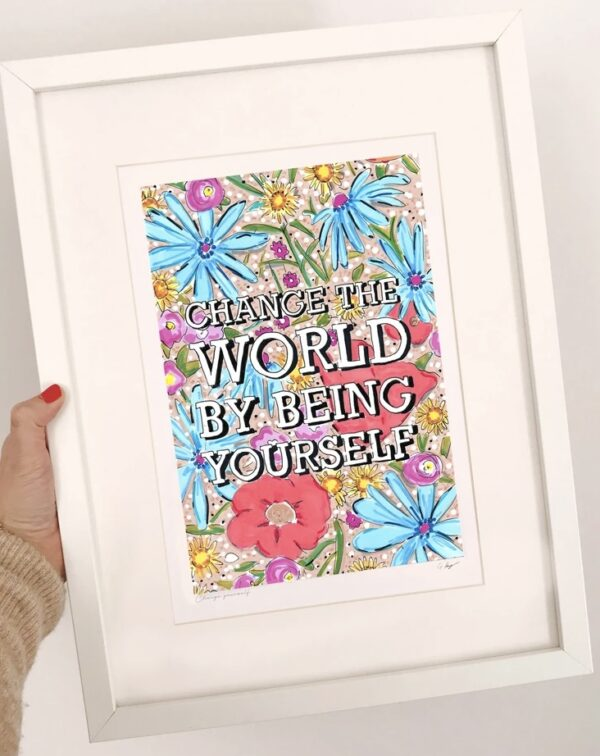 Change the world print by gem pang illustration