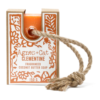 Clementine soap on a rope by agnes + cat