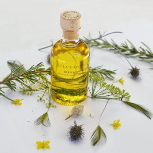 Breath of clarity bath and shower oil by lolas apothecary