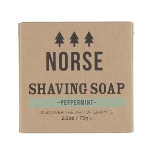 Peppermint shaving soap by norse