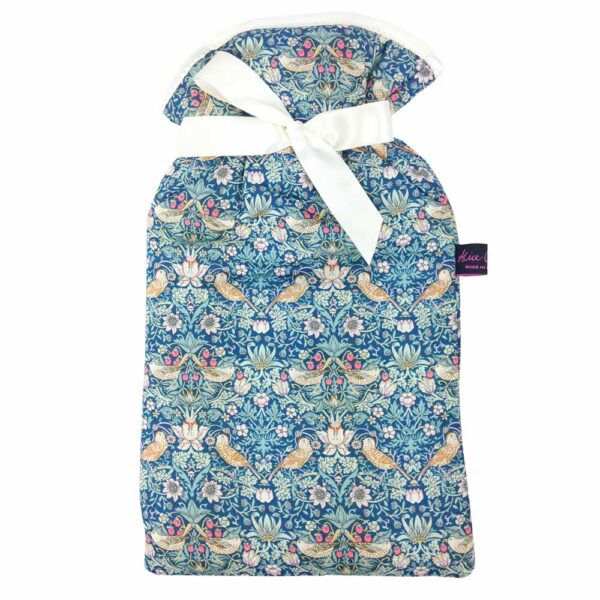 Strawberry thief forest hot water bottle by alice caroline