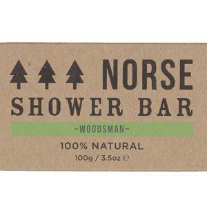 Woodsman shower bar