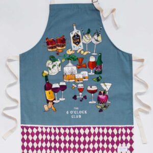 6 o'clock club apron by katie cardew