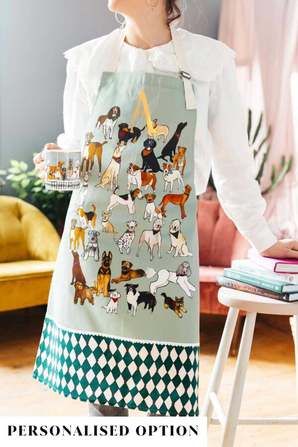 Dogs apron by katie cardew
