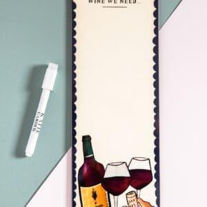 Wine magnetic fridge board by katie cardew