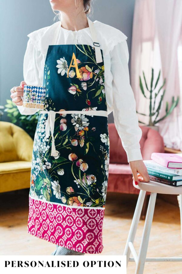 White blooms apron by katie cardew