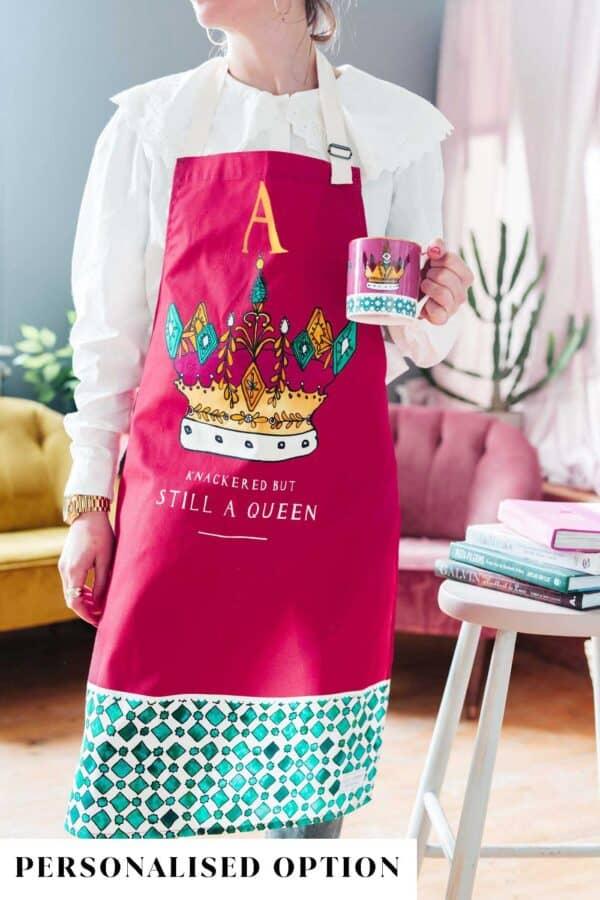 Queen apron by katie Cardew