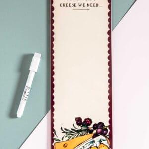 Cheese magnetic fridge board by katie cardew