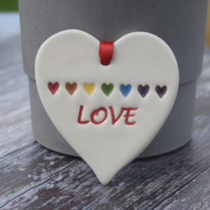 Love with rainbow by broadlands pottery