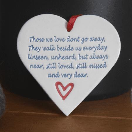 Walk beside us heart by broadlands pottery