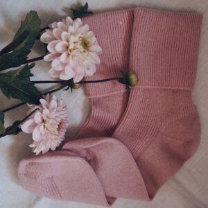 Dusky pink cashmere socks by tom lane