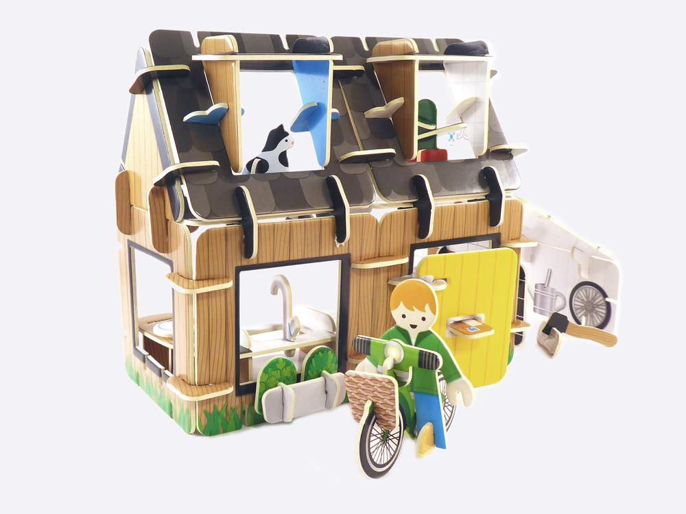Eco-House playset by play press