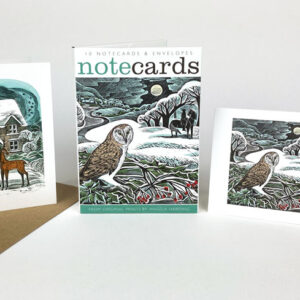 Christmas Cottage & Owl Flight from prints by Angela Harding