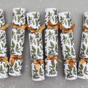 Oak leaves & acorns luxury chirstmas crackers by nancy & betty