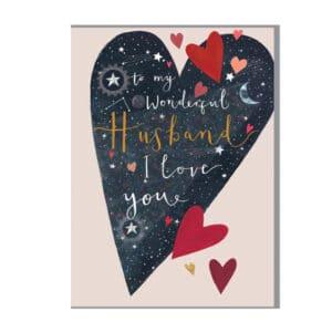Husband heart card by louise tiler