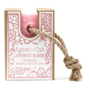 Japanese bloom soap on a rope by agnes + cat