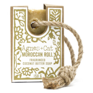 Moroccan roll soap on a rope by agnes + cat