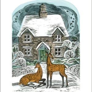 Christmas Cottage by Angela Harding