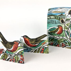 Robins and Teasels by Angela Harding
