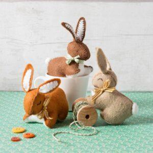 Bunnies Felt Craft Kit by Corinne Lapierre