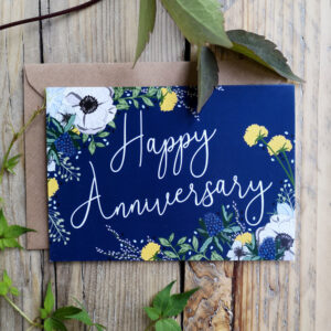 Anniversary card by wildwood paper