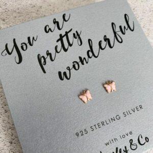 Butterfly charm earrings by hayley & co