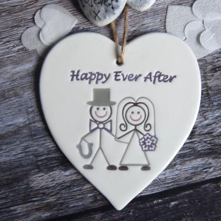 Happy ever after heart by broadlands pottery