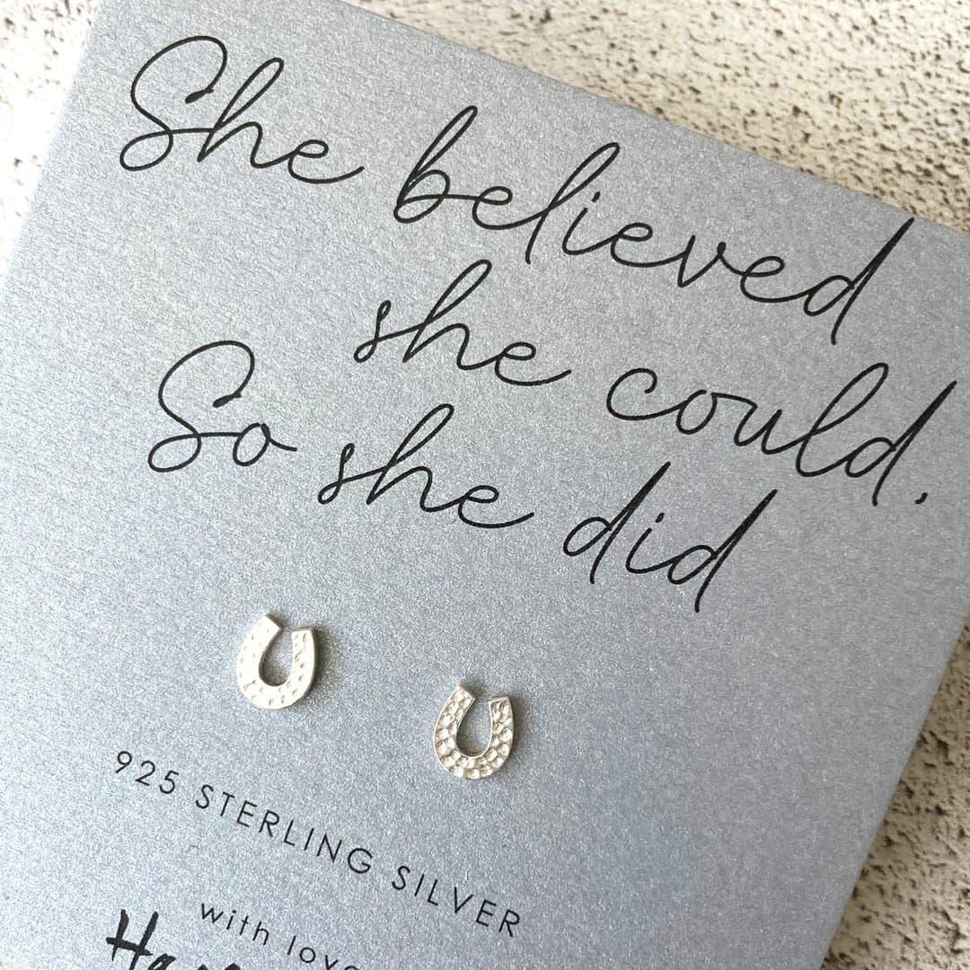 Horseshoe Sterling Silver Earrings by Hayley & Co
