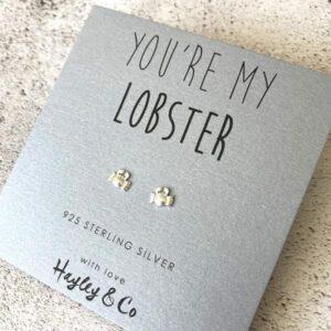 Lobster Sterling Silver Earrings by Hayley & Co