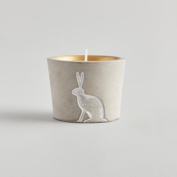 Winter Thyme Winter Woodland Hare Candle by ST Eval