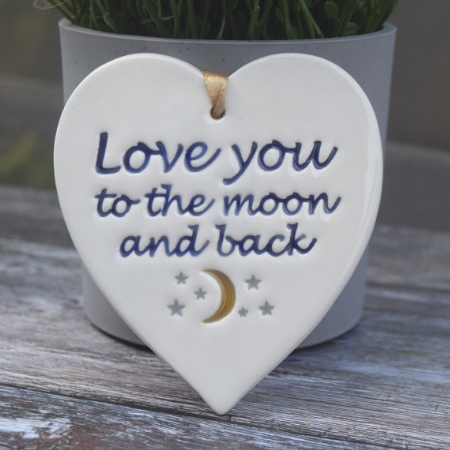 Love you to the moon by broadlands pottery