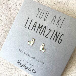 Llama Sterling Silver Earrings by Hayley & Co